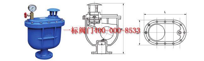 carx复合式排气阀主要连接外型尺寸  dn (mm) 25 32 50 65 80 100图片